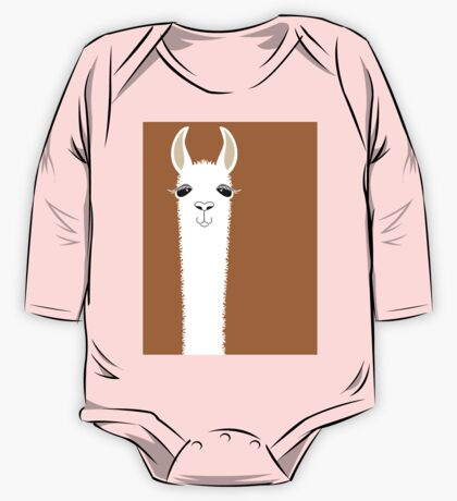 LLAMA PORTRAIT #9 One Piece - Long Sleeve