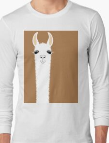 LLAMA PORTRAIT #9 Long Sleeve T-Shirt