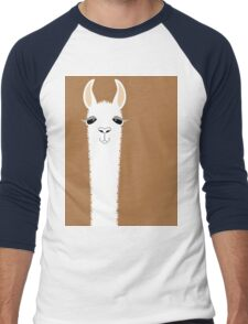 LLAMA PORTRAIT #9 Men's Baseball ¾ T-Shirt