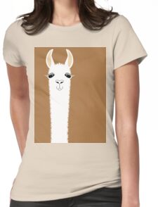 LLAMA PORTRAIT #9 Womens Fitted T-Shirt