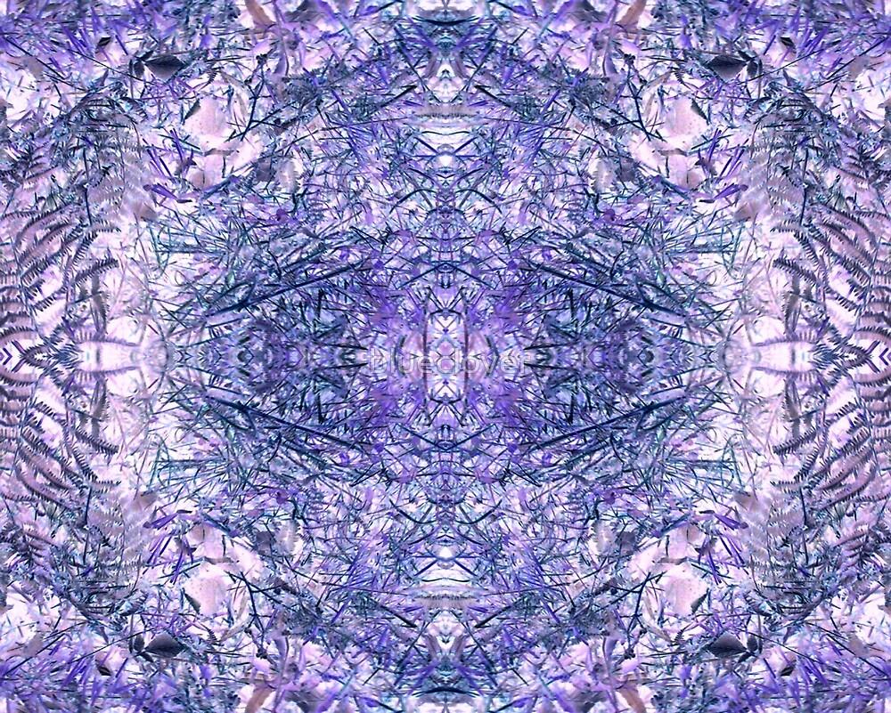 Purple Grass Kaleidoscope by blueclover
