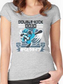 Double-Kick Dojo Women's Fitted Scoop T-Shirt
