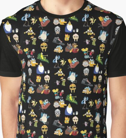 Cartoon mania Graphic T-Shirt
