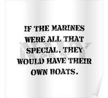 Navy Marines Boats Poster
