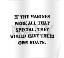 Navy Marines Boats Poster