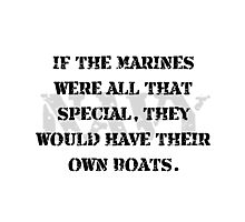 Navy Marines Boats Photographic Print