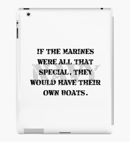 Navy Marines Boats iPad Case/Skin
