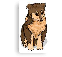 Australian Shepherd Puppy Canvas Print