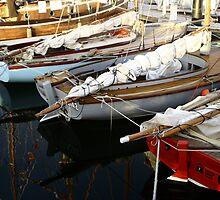 Wooden Boat Reflections #3 by Noel Elliot