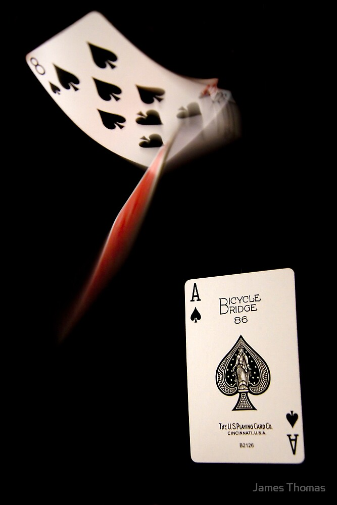 Falling Cards by James Thomas