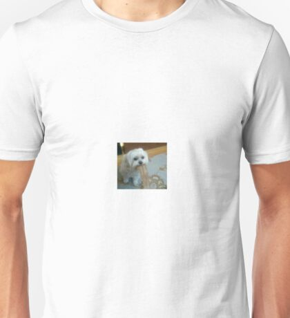 dog throwing up Unisex T-Shirt