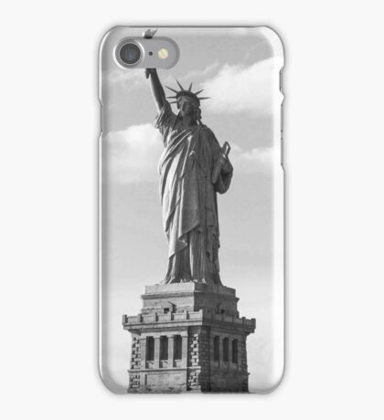 Black and White Statue of Liberty iPhone Case/Skin