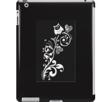 Owl on a Branch Pattern (White on Black) (4777 Views) iPad Case/Skin