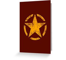 Star Stencil Vintage Decal Grunge Style Greeting Card