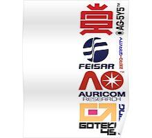 Wipeout Logos Poster