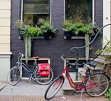 Along the canal, Amsterdam by Rachael Mullins