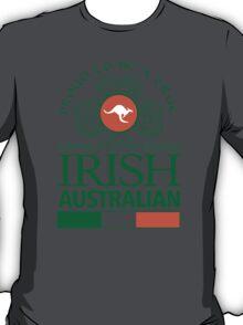 Awesome 'Proud to be a True Irish Australian' Kangaroo Flag TShirts and Accessories T-Shirt