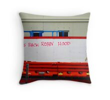 take from the rich and give to the poor Throw Pillow