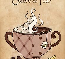 Coffee or Tea? (with text) by Mariya Olshevska