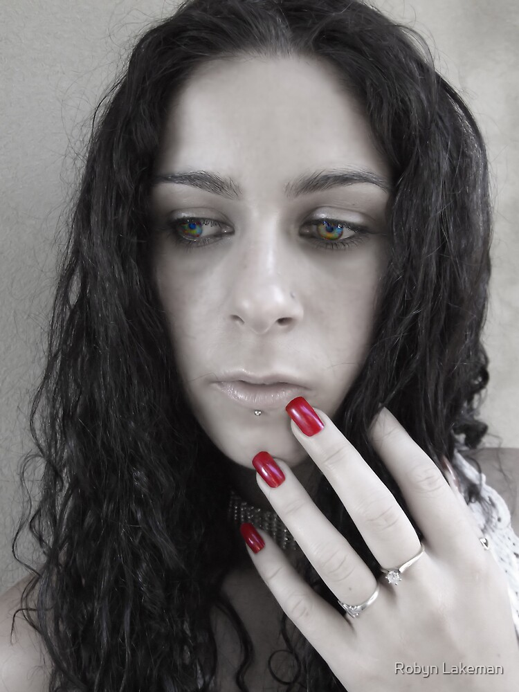 Red nails by Robyn Lakeman