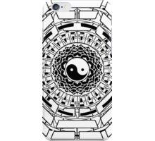 Mandala Yin Yang (white) iPhone Case/Skin