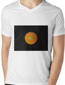 ORANGE-LEMON Mens V-Neck T-Shirt