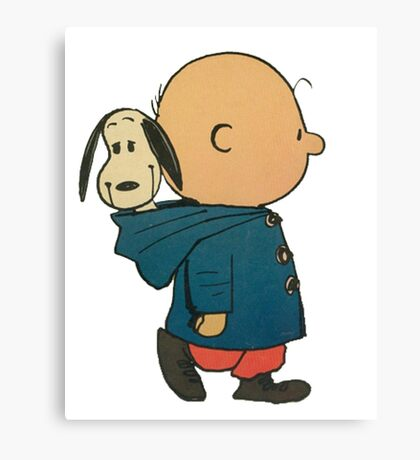 Charlie Brown and Snoopy Canvas Print