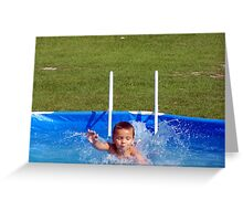 swim kiddo, swim Greeting Card