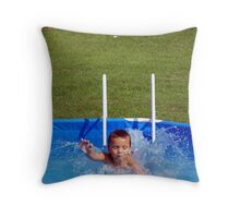 swim kiddo, swim Throw Pillow