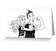 Tough-Guy Tattoos Greeting Card