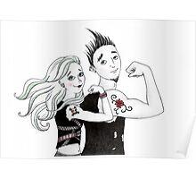 Tough-Guy Tattoos Poster