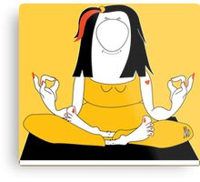 Miss Yoga Metal Print