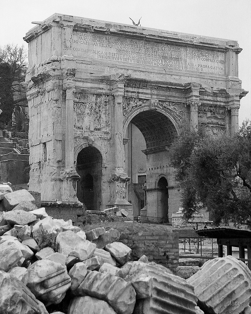 Arch of septimus severus by slater