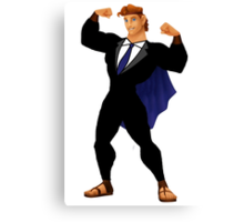 Hercules in a Suit Canvas Print