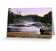 Noble Falls At Dawn Greeting Card
