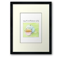 small pleasures of life Framed Print