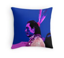 Chief with Blue Sky Throw Pillow