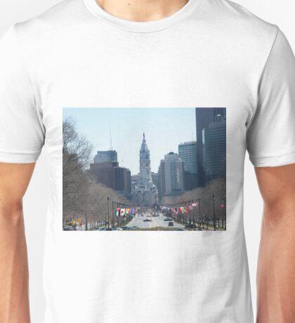 Philadelphia City Hall, Ben Franklin Blvd, Seen from Museum Row T-Shirt
