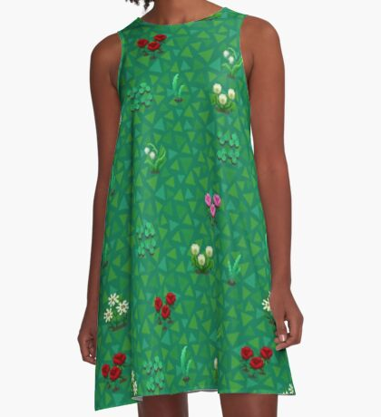 Animal Crossing Pixel A-Line Dress