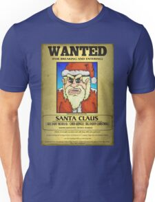 Santa Claus Wanted Poster Unisex T-Shirt