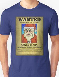 Santa Claus Wanted Poster T-Shirt