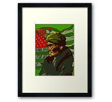 Geronimo In Deafeat Framed Print