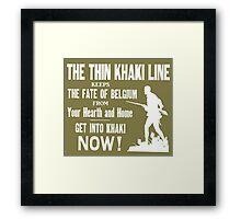 The thin khaki line.... Framed Print