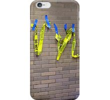 3D Graffiti With Blue Gloves iPhone Case/Skin