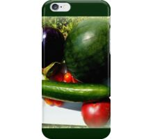 Home Grown Garden Veggies and Fruit iPhone Case/Skin