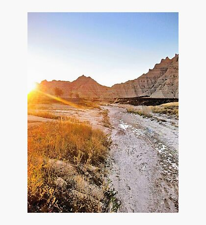 Trail to the Badlands Sun Photographic Print