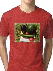 Home Grown Garden Veggies and Fruit Tri-blend T-Shirt