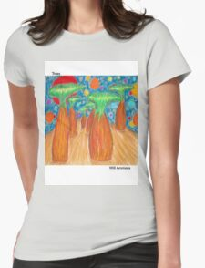 Lemur Trees Womens Fitted T-Shirt