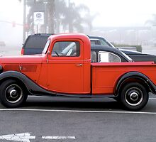 Little Red Pickup by Morven