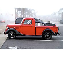 Little Red Pickup Photographic Print